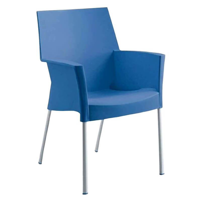 Stapelbaar Horeca Terrasstoel - Sole - Blauw