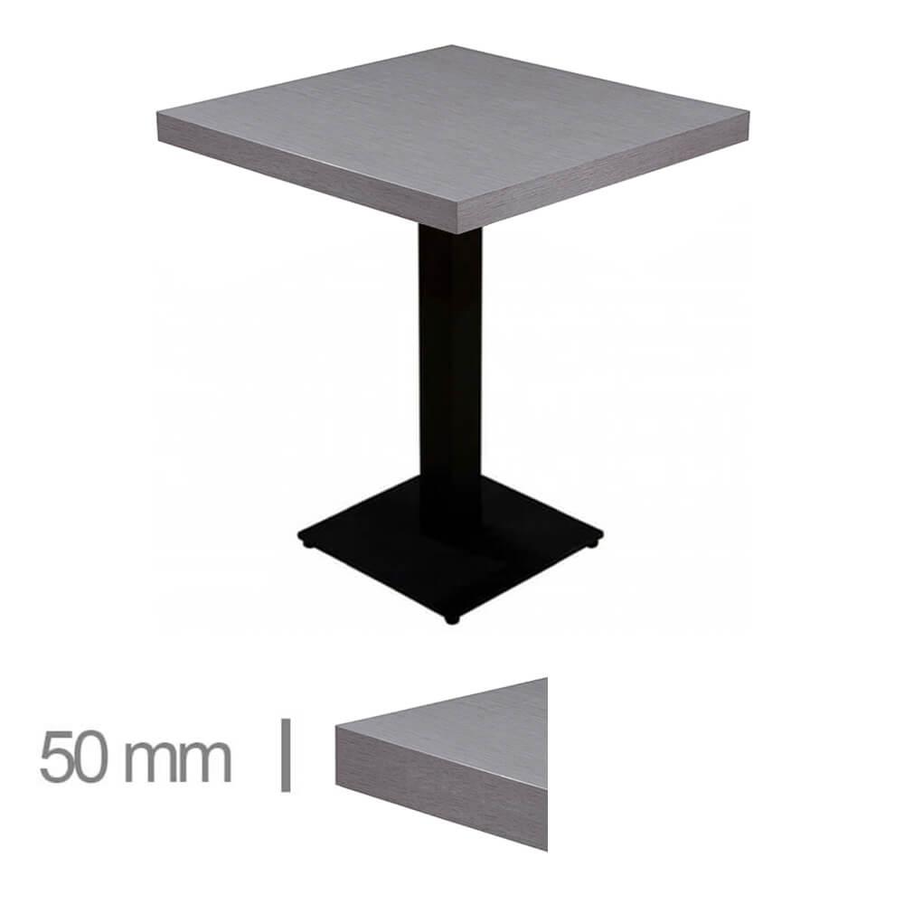 Horeca-Tafel-Dublin-Grijs-70x70 Cm-Met-Onderstel-50mm