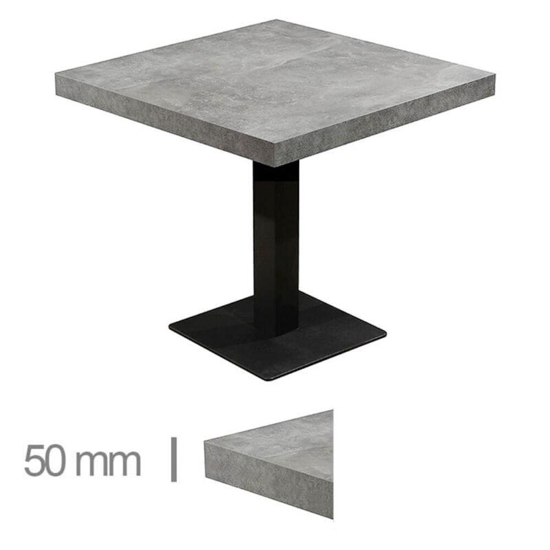 Horeca-Tafel-Dublin-Beton-70x70-Cm-Met-Onderstel-50mm