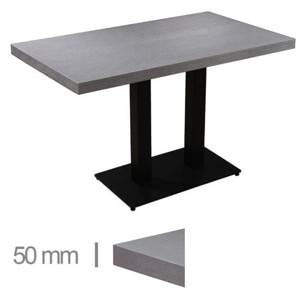 Horeca-Tafel-Dublin-Grijs-70x120-Cm-Met-Onderstel-50mm