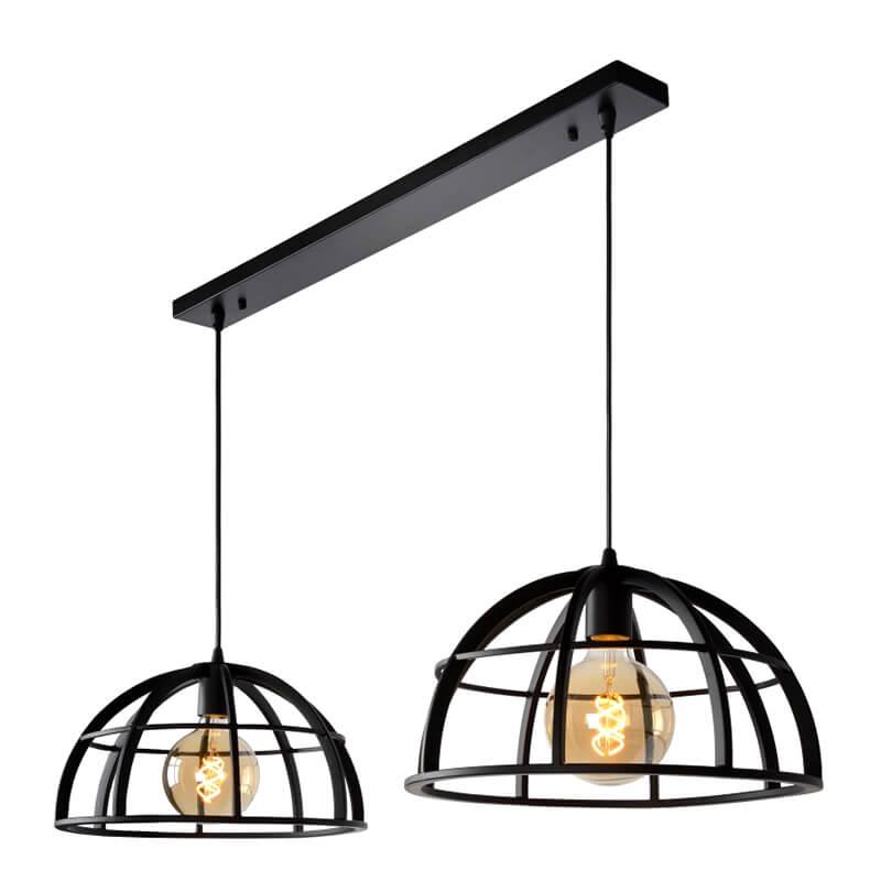 Dikra Hanglamp Zwart Duo - 3