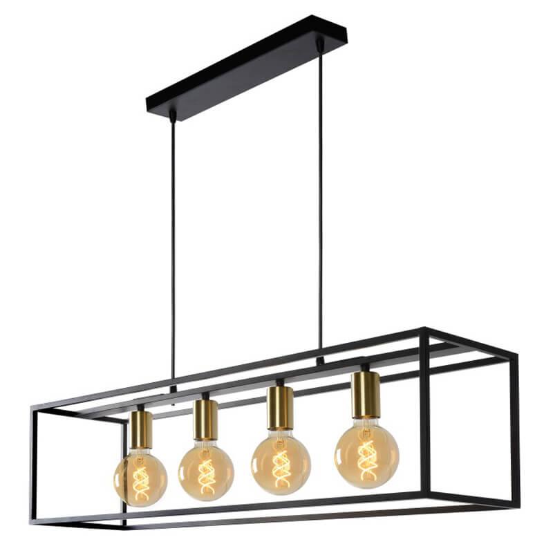 Ruben Hanglamp Zwart Quattro - 2