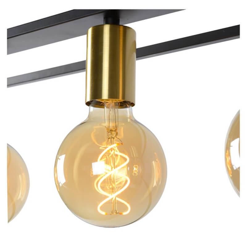 Ruben Hanglamp Zwart Quattro - 4