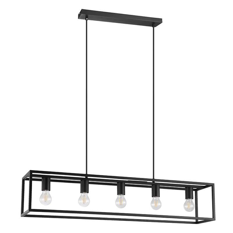 Eldrick Hanglamp Staal Zwart Cinque