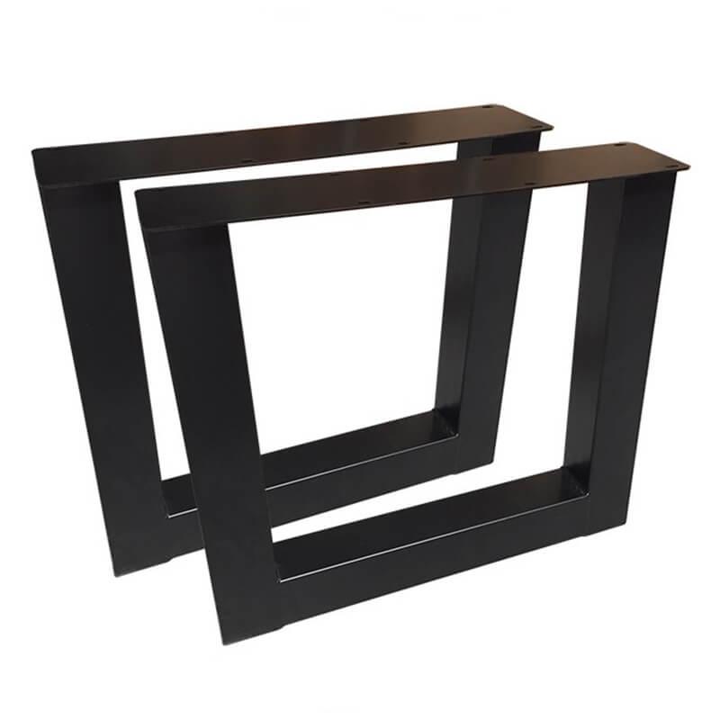 Horeca Industriele Tafelonderstel – Zwart – Hoogte 72 Cm